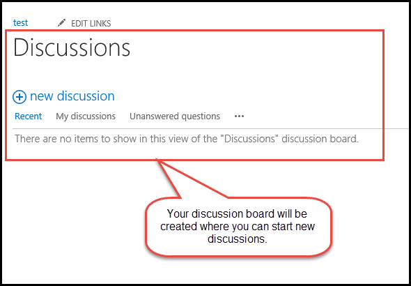 start discussions 6