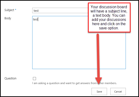 start discussions 7